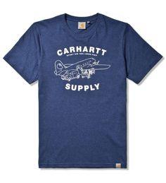 Carhartt WORK IN PROGRESS Navy Heather/Broken White Supply T-Shirt