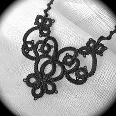 Tatted Lace Halskette  die Nacht-Garten