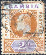 Gambia 1902 King Edward VII Head SG 47 Good Used SG 48 Scott 31 Other British Commonwealth Empire and Colonial stamps for sale Here