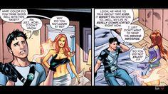 Dc Heroes, Comic Book Heroes, Comic Books Art, Robin Starfire, Nightwing And Starfire, The New Teen Titans, Richard Grayson, Teen Titans Fanart, Dc Comics Art