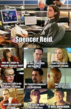 spencer reid, oh how i love you <3 mean girls hahaha