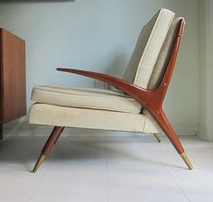 A beautiful Adrian Pearsall piece of MCM furniture..
