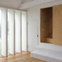 Converted barn by Lynch Architects includes an interpretation of a Norfolk winder stair