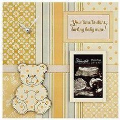 Darling Baby- Baby Photo/Clock Frame - Yellow