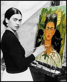 Frida Kahlo: A Mexican painter best known for her self-portraits working during the period of magic realism, surrealism, and modern art