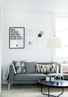 Here are some doable living room decor and interior design tips that will make your home cozy and comfortable for family and friends. My Living Room, Apartment Living, Home And Living, Living Area, Living Room Decor, Danish Apartment, Minimal Apartment, Small Living, Sweet Home