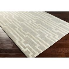 """Collection: Sandiacre, Colors: Medium Gray/Cream, Construction: Hand Tufted, Material: 100% New Zealand Wool, Pile: Medium Pile, Pile Height: 0.63"""", Style: Geometric, Made in: India Jaipur, Oriental, Geometric Rug, Accent Furniture, Cool Rugs, Modern Classic, Wool Area Rugs, Rugs Online, Accent Decor"""