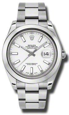Rolex Datejust II White Dial Stainless Steel Automatic Mens Watch 116300WSO  Price : $6,935.00 http://www.blountjewels.com/Rolex-Datejust-Stainless-Automatic-116300WSO/dp/B008GTSKQ8