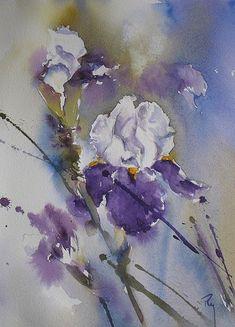 Iris … Plus #watercolorarts