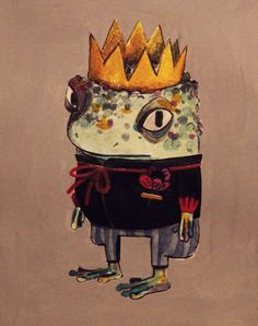 A lovely frog prince by Tanja Stevanovic Pretty Art, Cute Art, Arte Peculiar, Character Art, Character Design, Frog Illustration, Arte Hip Hop, Frog Pictures, Frog Art