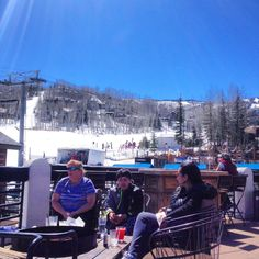 Patio ski break at V