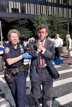 Moira Smith, the NYPD officer who rescued people from the WTC, went back to get more and was killed when the south tower collapsed. She was the only female police officer to die on 9/11. BRAVE WOMAN! Rest her soul
