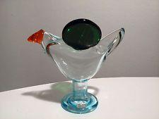 Oiva Toikka 70's FLYCATCHER Art Glass bird Arabia Iittala Nuutajärvi Finland!!