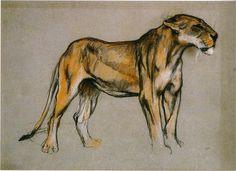 Arthur Wardle - A Lioness.