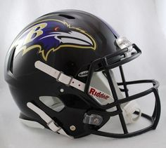 Creative Sports Enterprises Rdrsa-Ravens Baltimore Ravens Riddell Speed Revolution Full Size Authentic Proline Football Helmet, As Shown Nfl Ravens, Nfl Baltimore Ravens, Baltimore Maryland, Football Equipment, Sports Equipment, Helmet Design, Nfl Sports, Sports Logos, Sports Teams