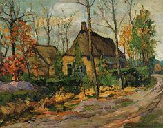 Jan Kruysen (1874-1938). Kapelweg in Oirschot. Olieverf op doek, 51 x 65 cm…