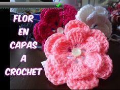 Flor N° 22 en tejido crochet tutorial paso a paso. - YouTube