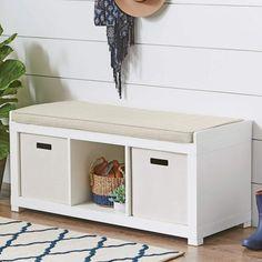 Better Homes And Gardens 3 Cube Organizer Storage Bench White Jkdbnpfekwzwxm . Cube Storage Bench, Cubby Storage, Storage Compartments, Storage Organization, Storage Ideas, Storage Cubes, Smart Storage, Kitchen Storage, Storage Solutions