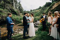 Intimate Wedding at Hug Point, Oregon