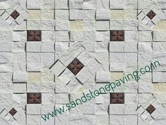#stone_mosaic_tiles for #interior and #exterior #wall_decoration available in our factory. #white_stone_mosaic for #tv_unit wall. know more our products visit our website www.sandstonepaving.co.in jaistones@gmail.com contact to +91-98288-30006