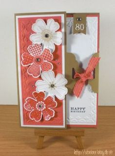 stampin up, card birthday 80