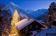 Christmas in Switzerland.., what can you wish more than snow at Christmas?.....