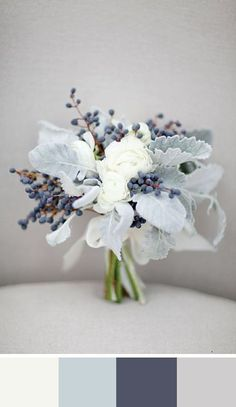 White as Snow: 5 Winter White Color Palettes for your Wedding Day #aromabotanical
