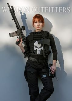Cosplay - Community - Google+ -Female Punisher from Weapon Outfitters!