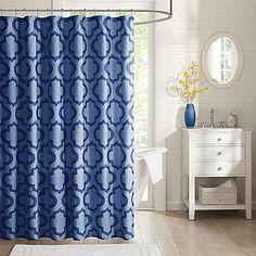 Intelligent Design Pilar Printed Shower Curtain
