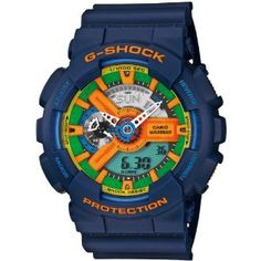 #7: Casio G-Shock Ga-110Fc-2Aer Blue Montre Armbanduhr Watch Limited Edition