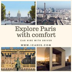 Chauffeur service in Paris will make your sightseeing comfortable and easy. Paris Travel, France Travel, Us Travel, Best Travel Insurance, Discount Travel, Best Cities, Car Rental, Travel Guides, Places To Visit