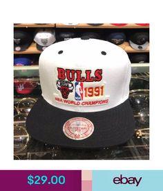 787f3978c28 Hats Mitchell   Ness Chicago Bulls Snapback Hat White Black