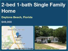 2-bed 1-bath Single Family Home in Daytona Beach, Florida ►$49,000 #PropertyForSale #RealEstate #Florida http://florida-magic.com/properties/3951-single-family-home-for-sale-in-daytona-beach-florida-with-2-bedroom-1-bathroom