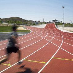 Athletics Track by Subarquitectura – Updated « Landscape Architecture Platform Dezeen Architecture, Landscape Architecture, Hill Sprints, Running Posters, Sport C, Charity Run, Running Photos, Track Quotes, Running Track