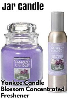 (This is an affiliate pin) Yankee Candle Lilac Blossom Small Jar Candle. 3.7 Oz and Concentrated Room Spray 1.5 Oz. Air Freshener. Scented Candle. Scented Candles, Candle Jars, Lilac Blossom, Air Freshener, Room, Bedroom, Rooms, Rum, Peace