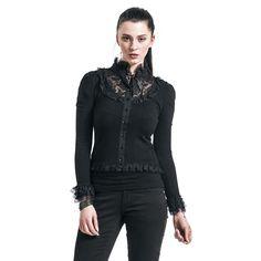 """Maglioncino donna """"Black Lace Cardigan"""" del brand #Banned."""