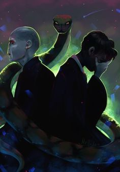 Voldemort, Nagini, and Tom Riddle Harry Potter Tumblr, Harry Potter Fan Art, Harry Potter Toms, Harry Potter Voldemort, Mundo Harry Potter, Slytherin Harry Potter, Lord Voldemort, Harry Potter Drawings, Harry Potter Anime