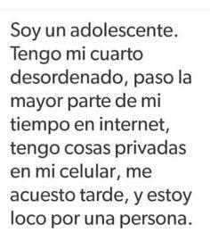 Ser un@ adolesente no esta shido Sad Quotes, Love Quotes, Sad Love, Love You, Words Can Hurt, Quotes En Espanol, Magic Words, Spanish Quotes, True Stories
