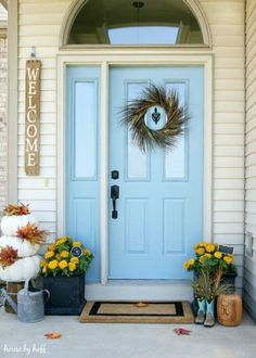 Fall Front Stoop - House by Hoff - love the wreath for the front door