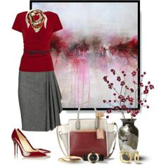 cute teacher clothes | New Teacher; First Day of School, created by vonshelman on Polyvore