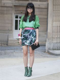 Would not rock the shoes, but the pink and mint combo is effortlessly beautiful!