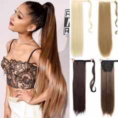 AOOSOO 24 inch Silky Straight Synthetic Clip in Drawstring Ponytail Hairpieces for Women Hair Extension High Temperature Fiber – THC THC – Texas Hair Club Ponytail Hair Extensions, Ponytail Extension, Synthetic Hair Extensions, Hair Unit, Hairpieces For Women, Texas Hair, Weave Ponytail Hairstyles, Drawstring Ponytail, Lisa