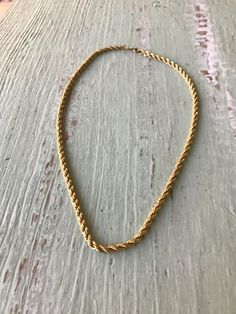 Vintage Rope Chain, Gold Chain, Rope Chains, Gold Filled Chain, Gold Rope Chain, 18 inch Chain, Gold Chains, Rope Chain, Vintage Gold Chain