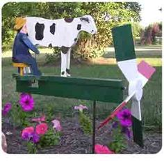 Milking the Cow Whirligig Plans