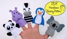 PDF Motif: Zoo Amis 02 marionnettes à doigt feutre