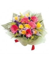 Bouquet of Mixed Cut Flowers Flowers Singapore, Send Flowers Online, Flower Delivery, Cut Flowers, Bouquet, Kolkata, Easy, Gifts, Stuff To Buy