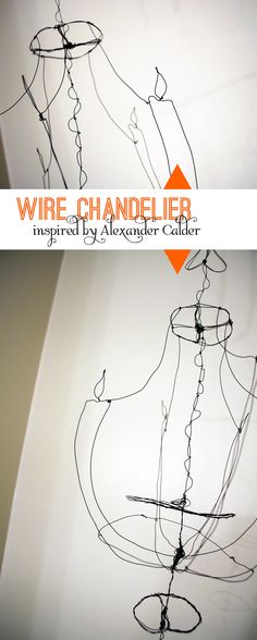 Alexander Calder inspired wire chandelier.  www.BeautifulHelloBlog.com