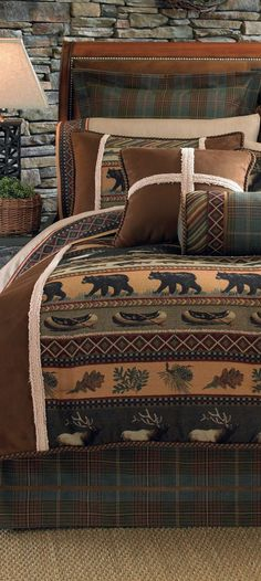 Caribou Log Cabin Bedding
