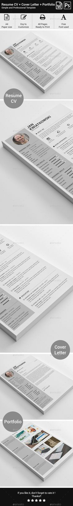 Resume Cv resume template, Resume cv and Font logo - buy resume templates