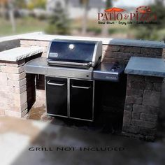 28 New Ideas backyard bbq island grill station Outdoor Kitchen Kits, Outdoor Kitchen Design, Outdoor Kitchens, Bude, Barbacoa, Outdoor Gas Fireplace, Fireplace Kits, Grill Station, Bbq Island